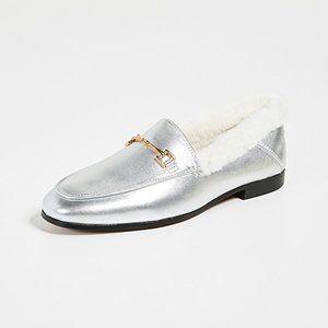 Sam Edelman loafers silver/gold fur 10 M